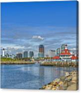 Lovely Day Long Beach Canvas Print