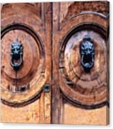 Lovely Double-door   Rome Canvas Print