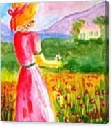 Lovely Lady Landscape Canvas Print