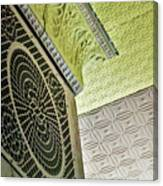 Lovely Patterns Of An Old School Interior Canvas Print