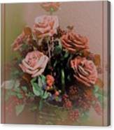 Lovely Rustic Rose Bouquet Canvas Print
