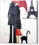 lovers in Paris Canvas Print