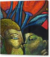 Lovers Kiss Canvas Print