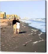 Lovers On The Beach Canvas Print
