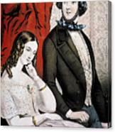 Lovers Quarrel, 1846 Canvas Print