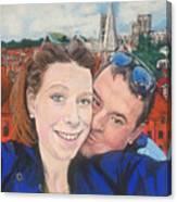Lovers Selfie In York, England Canvas Print