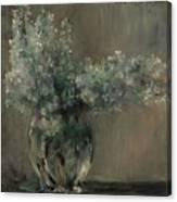 Lovis Corinth Ostpreussen 1858 - 1925 Zandvoort Still Life With White Lilacs. Canvas Print