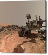 Low-angle Self-portrait Of Nasa's Curiosity Mars Rover Canvas Print