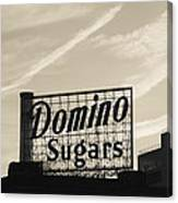 Low Angle View Of Domino Sugar Sign Canvas Print