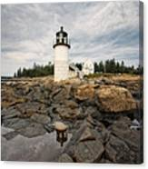 Low Angle View Of The Marshall Point Lighthouse Maine Canvas Print