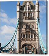 Low Angle View Of Tower Bridge, London Canvas Print