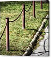 low fence Chain Canvas Print