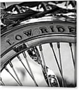 Low Rider In Black And White Canvas Print