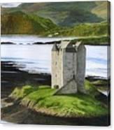 Low Tide At Castle Stalker Canvas Print