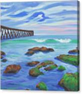 Low Tide At Haskell's Beach Canvas Print