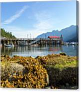 Low Tide At Horseshoe Bay Canada On A Sunny Day Canvas Print