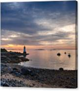 Low Tide At Salem's Lighthouse Canvas Print
