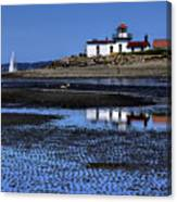 Low Tide At The Lighthouse Canvas Print