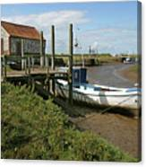 Low Tide At Thornham Canvas Print