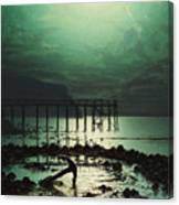 Low Tide By Moonlight Canvas Print