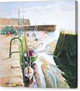Low Tide Dysart Harbour Canvas Print
