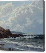 Low Tide, Hetherington's Cove, Grand Manan By Alfred Thompson Bricher Canvas Print