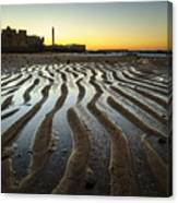 Low Tide On La Caleta Cadiz Spain Canvas Print