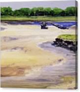 Low Tide Parsons Canvas Print