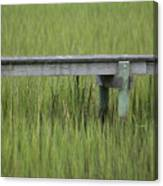 Lowcountry Dock Over Marsh Grass Canvas Print