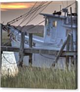 Lowcountry Shrimp Boat Sunset Canvas Print