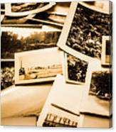 Lowdown On A Vintage Photo Collections Canvas Print