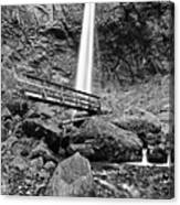 Lower Angle Of Elowah Falls In The Columbia River Gorge Canvas Print