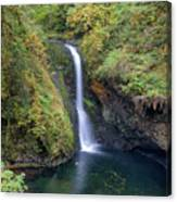Lower Butte Creek Falls Plunging Into A Pool Canvas Print