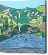Lower Cataract Lake And Cataract Creek Falls Canvas Print