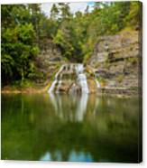 Lower Falls Of Enfield Glen Early Autumn Canvas Print