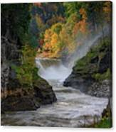 Lower Falls Of The Genesee River Canvas Print