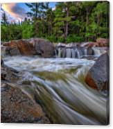 Lower Falls Of The Swift River Canvas Print
