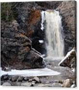 Lower Falls On Fall River Canvas Print