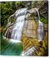 Lower Falls Profile At Enfield Glen Canvas Print