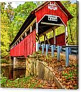 Lower Humbert Covered Bridge 2 Canvas Print