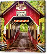 Lower Humbert Covered Bridge 5 Canvas Print