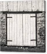Lower Level Door To An 1803 Amish Corn Barn  -  1803cornbarnblwh172868 Canvas Print