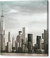 Lower Manhattan Panoramic Skyline Canvas Print