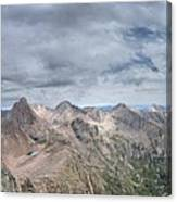 Lower North Eolus From The Catwalk - Chicago Basin - Weminuche Wilderness - Colorado Canvas Print