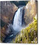 Lower Yellowstone Falls From Inspiration Point Canvas Print