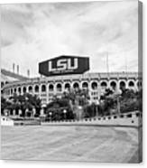 Lsu Tiger Stadium -bw Canvas Print