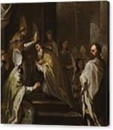 Luca Giordano Naples 1634 - 1705 The Consecration Of Saint Gregorio Armeno Canvas Print