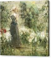 Luca Postiglione Napoli 1876 - 1936 The White Fleurs-de-lis Canvas Print