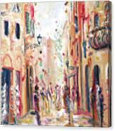 Lucca Street Canvas Print