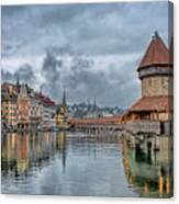 Lucerne Chapel Bridge Canvas Print
